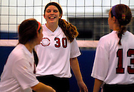 10 DEC. 2010 -- ST. LOUIS -- Assumption School volleyball player Kristina Eason (30) celebrates with her teammates after scoring a point against Holy Infant School during the championship match of the CYC girls' parochial closed division tournament at the Monsignor Meyer Youth Center in St. Louis Friday Dec. 10, 2010.  Image © copyright 2010 Sid Hastings.