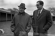 "Vincent O'Brien with 'Sir Ivor' at O'Brien Stables, Cashel. ""Sir Ivor' was owned by American businessman and U.S. Ambassador to Ireland, Raymond R. Guest. The horse was named for his British grandfather, Sir Ivor Guest, 1st Baron Wimborne.' Sir Ivor' won three races in 1967, the Grand Criterium at Longchamp and the National Stables and the Probationers State at the Curragh. .11.03.1968"