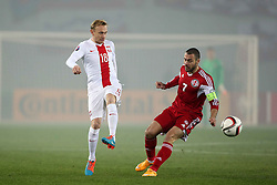 14.11.2014, Boris Paitschadse Nationalstadion, Tiflis, GEO, UEFA Euro Qualifikation, Georgien vs Polen, Gruppe D, im Bild SEBASTIAN MILA JABA KANKAVA // during the UEFA EURO 2016 Qualifier group D match between Georgia and Poland at the Boris Paitschadse Nationalstadion in Tiflis, Georgia on 2014/11/14. EXPA Pictures &copy; 2014, PhotoCredit: EXPA/ Newspix/ Piotr Kucza<br /> <br /> *****ATTENTION - for AUT, SLO, CRO, SRB, BIH, MAZ, TUR, SUI, SWE only*****