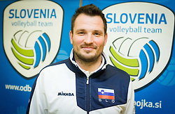Luka Slabe, head coach during press conference of Slovenia Volleyball Team before European Qualification tournament in Nis / Serbia for 2014 FIVB World Championship on December 27, 2013 in M Hotel, Ljubljana, Slovenia.  Photo by Vid Ponikvar / Sportida