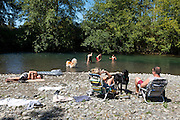 """A day at the """"beach"""" along the Dungeness River in Sequim, WA."""