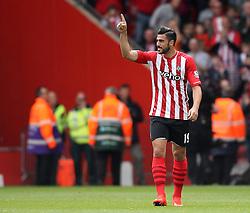 Southampton's Graziano Pelle celebrates his goal - Photo mandatory by-line: Robbie Stephenson/JMP - Mobile: 07966 386802 - 25/04/2015 - SPORT - Football - Southampton - ST Marys Stadium - Southampton v Tottenham Hotspur - Barclays Premier League