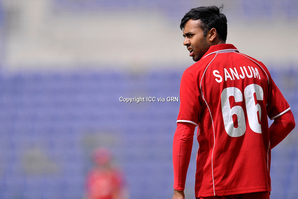 Denmark's Sair Anjum at the ICC World Twenty20 Qualifier UAE 2012. Pix ICC/Thusith Wijedoru