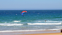 Wind surfer, beach, El Sardinero, Santander, Spain, May, 2015, 201505070836<br /> <br /> Copyright Image from Victor Patterson, 54 Dorchester Park, Belfast, UK, BT9 6RJ<br /> <br /> t: +44 28 9066 1296<br /> m: +44 7802 353836<br /> vm +44 20 8816 7153<br /> <br /> e1: victorpatterson@me.com<br /> e2: victorpatterson@gmail.com<br /> <br /> www.victorpatterson.com<br /> <br /> IMPORTANT: Please see my Terms and Conditions of Use at www.victorpatterson.com