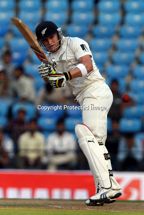 New Zealand players Brendon McCullum takes shot Against India during 3rd test match India vs New Zealand  Played at Vidarbha Cricket Association Stadium, Jamtha, Nagpur, 20, November 2010 (5-day match)