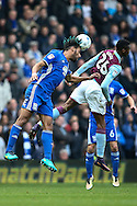 Ryan Shotton of Birmingham City (left)  heads clear during the Sky Bet Championship match at St Andrews, Birmingham<br /> Picture by Andy Kearns/Focus Images Ltd 0781 864 4264<br /> 30/10/2016