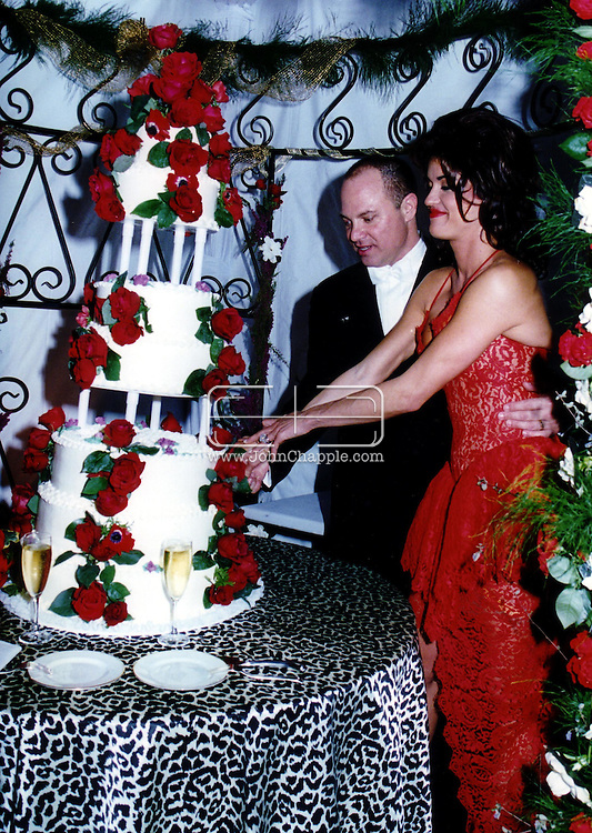 19th September 2002, New York, NY. 'The Worlds First Supermodel', Janice Dickinson. Born in Brooklyn on February 15, 1955, Janice Doreen Dickinson has also found some success as a fashion photographer, actor, author and an agent. She has also recently opened her own modeling agency, the Janice Dickinson Modeling Agency. Pictured is Janice with her last husband Albert Gersten...PHOTO Courtesy of Janice Dickinson / REBEL IMAGES