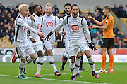 Derby County midfielder Tom Ince (10) scores a goal 0-1 during the EFL Sky Bet Championship match between Wolverhampton Wanderers and Derby County at Molineux, Wolverhampton, England on 5 November 2016. Photo by Alan Franklin.