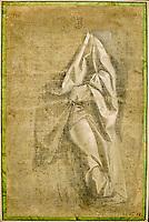 France, Ille-et-Vilaine, Rennes, musée des Beaux-Arts, Atelier d'Andréa del Verrocchio, Draperie Jabach III, figure debout // France, Ille-et-Vilaine, Rennes, Museum of Fine Arts, Atelier d'Andréa del Verrocchio, Drapery Jabach III, standing figure