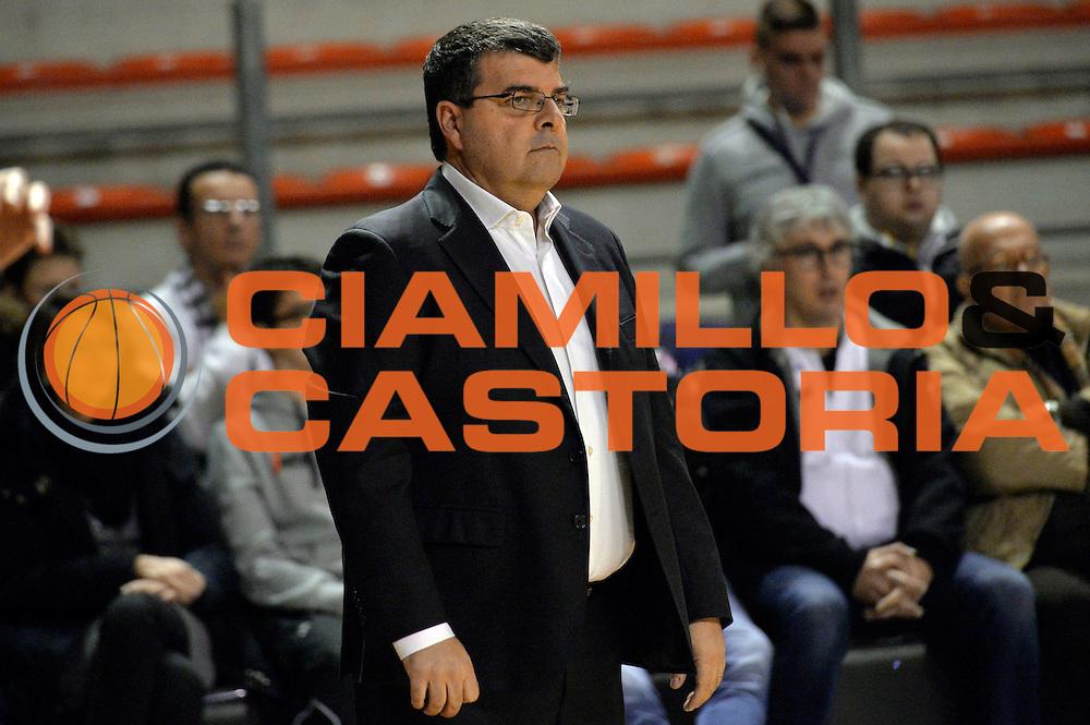Alessandro Ramagli<br /> Ambalt Recanati - Virtus Segafredo Bologna<br /> Campionato Basket A2 LNP 2016/2017<br /> Ancona, 03/12/2016<br /> Foto Ciamillo-Castoria