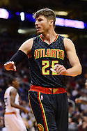 Jan 23, 2016; Phoenix, AZ, USA; Atlanta Hawks guard Kyle Korver (26) reacts on the court in the game against the Phoenix Suns at Talking Stick Resort Arena. Mandatory Credit: Jennifer Stewart-USA TODAY Sports