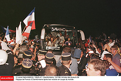 ©Lionel Hahn/ABACA.10925.47.Paris-France,12/07/ 1998. France made soccer history here on Sunday night, when the underdogs beat defending champions Brazil 3-0 to win the last World Cup this century before a delirious crowd of 80,000 people.