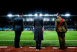 Serviceman stand pitch side at Villa Park - Mandatory by-line: Robbie Stephenson/JMP - 02/11/2018 - FOOTBALL - Villa Park - Birmingham, England - Aston Villa v Bolton Wanderers - Sky Bet Championship