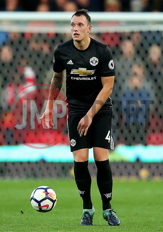 Phil Jones of Manchester United - Mandatory by-line: Matt McNulty/JMP - 09/09/2017 - FOOTBALL - Bet365 Stadium - Stoke-on-Trent, England - Stoke City v Manchester United - Premier League