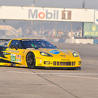 Corvette Racing competing at the 59th Mobil 1 12 Hours of Sebring, March 19, 2011