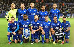 Leicester Team line up. - Mandatory by-line: Alex James/JMP - 10/01/2014 - FOOTBALL - King Power Stadium - Leicester, England - Leicester City v FC Copenhagen - UEFA Champions League