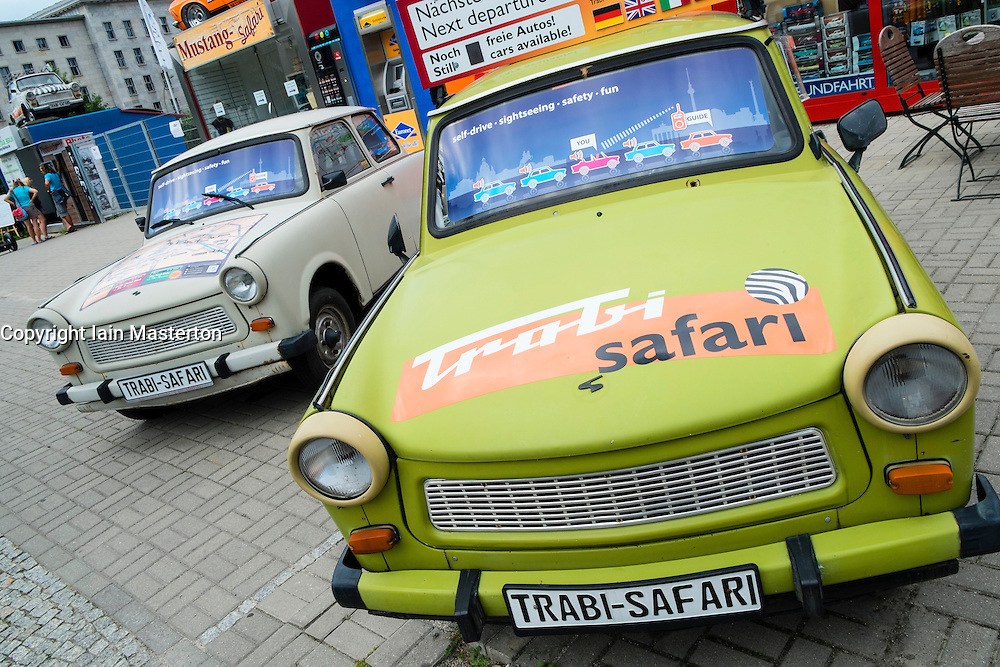Trabi World city tours depot for Trabant guided (safari) tours of Berlin Germany