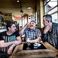 Nederland, Amsterdam, 27 september 2016.<br /> Op de foto: De Spaanse obers en kok van voorheen Centra, het Spaanse restaurant dat afgelopen zomer failliet ging; ze hebben nogal wat op hun lever over de eigenaar. <br /> <br /> Foto: Jean-Pierre Jans