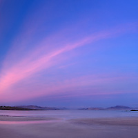 Stunning Sunset Panorama at Ballinskelligs Beach, County Kerry, Ireland / ba039