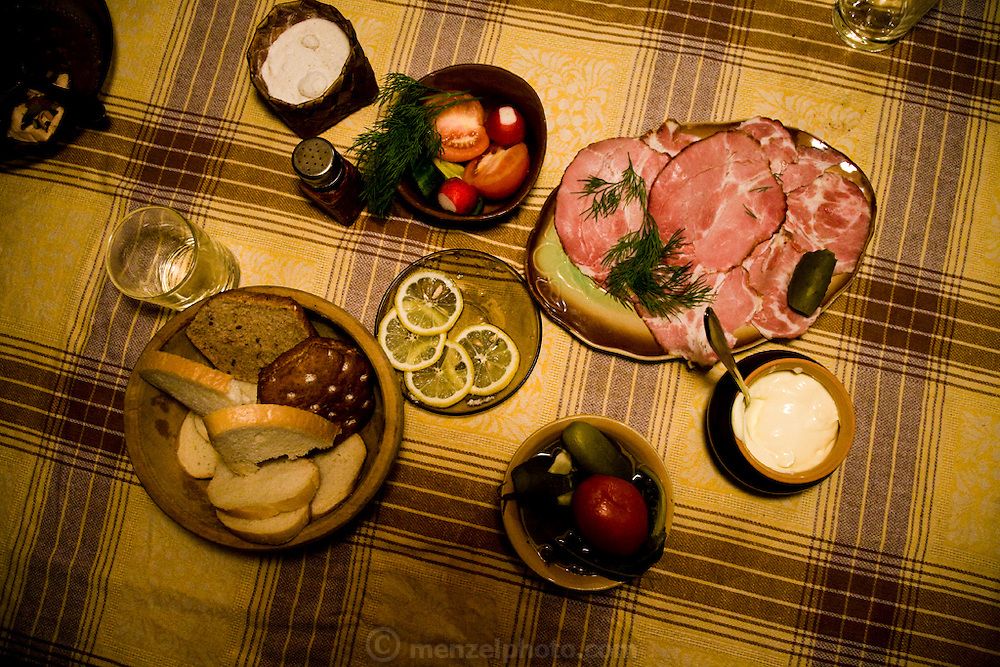 Dinner at Vyacheslav Grankovskiy's home in Schlisselburg, outside St. Petersburg, Russia.  (Vyacheslav Grankovskiy is featured in the book What I Eat: Around the World in 80 Diets.)
