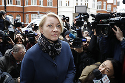 © Licensed to London News Pictures. 14/11/2016. London, UK.  Swedish officials arrive at the Ecuadorian Embassy in London where they are expected to interview WikiLeaks editor-in-chief, Julian Assange. Assange, who has been living at the embassy for over four years, is wanted for questioning over accusations of rape in Stockholm in 2010. Photo credit: Peter Macdiarmid/LNP