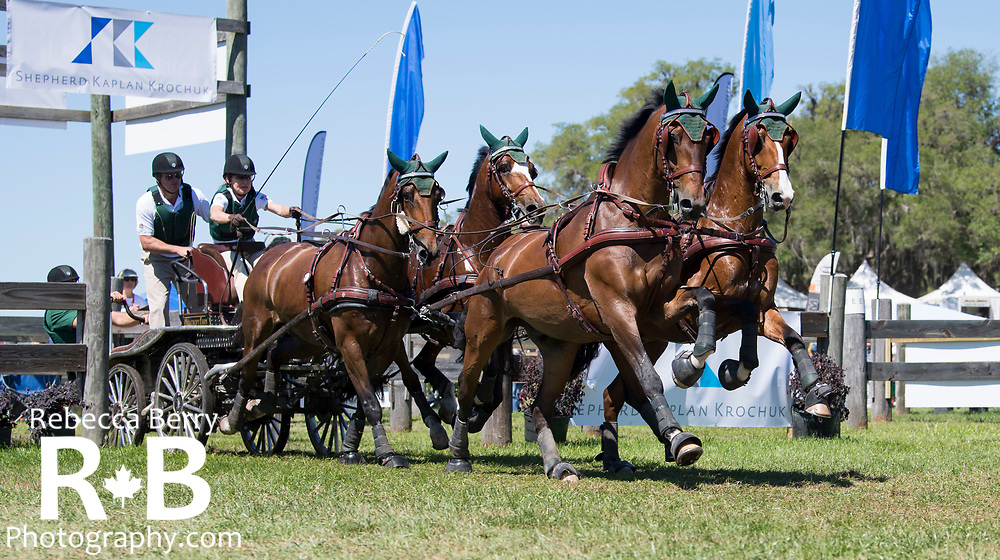 Misdee Wrigley-Miller (USA) and her team during the marathon at Live Oak International - Ocala, Florida - March 17, 2018 - Rebecca Berry