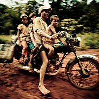 Local Schoolbus, Mondulkiri Province, Cambodia