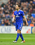Harry Arter (7) of Cardiff City during the Premier League match between Cardiff City and Chelsea at the Cardiff City Stadium, Cardiff, Wales on 31 March 2019.