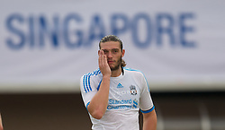SINGAPORE, SINGAPORE - Sunday, July 17, 2011: Liverpool's Andy Carroll during an exhibition training session at the Bishan Stadium in Singapore on day seven of the club's preseason Asia Tour. (Photo by David Rawcliffe/Propaganda)