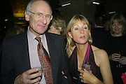 John Carey and Kate Mosse, Book party for Sepulchure by Kate Mosse. Crypt at at. Martin in the Fields. Trafalgar Sq. London. 31 October 2007. -DO NOT ARCHIVE-© Copyright Photograph by Dafydd Jones. 248 Clapham Rd. London SW9 0PZ. Tel 0207 820 0771. www.dafjones.com.