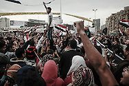 Few days before first parliamentary elections since former Egyptian president Mubarak stepped down, protesters gather on Tahrir Square  on November 27, 2011 in Cairo, Egypt.