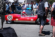 Scenes and details from the Carmel-by-the-Sea Concours on the Avenue vintage automotive event, held during Monterey Car Week in Monterey, California