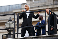 "© Licensed to London News Pictures. 29/09/2016. London, UK. Mayor of London, SADIQ KHAN unveils the 11th commission for the Fourth Plinth ""Really Good"" by David Shrigley in Trafalgar Square, London on 29 September 2016. Photo credit: Tolga Akmen/LNP"