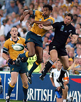 Photo. Steve Holland.Australia v New Zealand, Semi-final at the Telstra Stadium, Sydney. RWC 2003.<br />