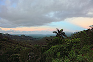 Sunset view towards Baracoa from the La Farola Highway in Guantanamo Province.