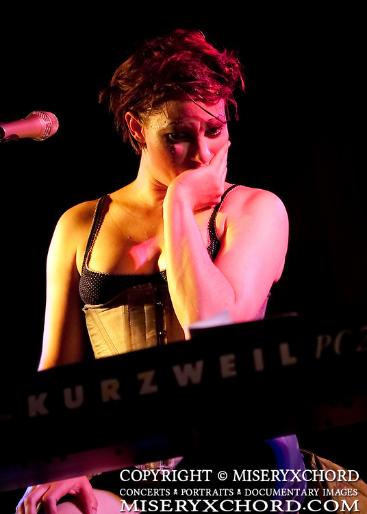 Amanda Palmer performs at the Comic Book Legal Defense Fund benefit concert at The San Diego WOmen's Club in San Diego, California, USA on July 24, 2009.