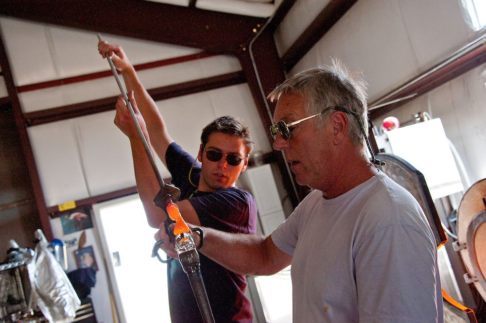 Glass blowing at Lee Proctor's studio with Brian Moore