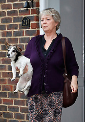 "© Licensed to London News Pictures. 15/01/2018. Maidstone, UK. JAYNE MARNEY, mother of Jo Marney, seen leaving the family home in Kent with a pet dog, saying Jo Marney had ""Gone to Disneyland"". UKIP party leader Henry Bolton has said he is no longer in a relationship with Ms Marney. Mr Bolton is under pressure after his partner, glamour model Jo Marney, wrote offensive text messages to friend. She has been suspended from the party. Photo credit: Peter Macdiarmid/LNP"