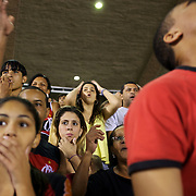 Flamengo fans react to a near miss during the Flamengo v Vasco da Gama, Futebol Brasileirao 2010 League match at the Jornalista Mário Filho, Maracana Stadium, Rio de Janeiro,  Brazil. 1st August 2010. Photo Tim Clayton.
