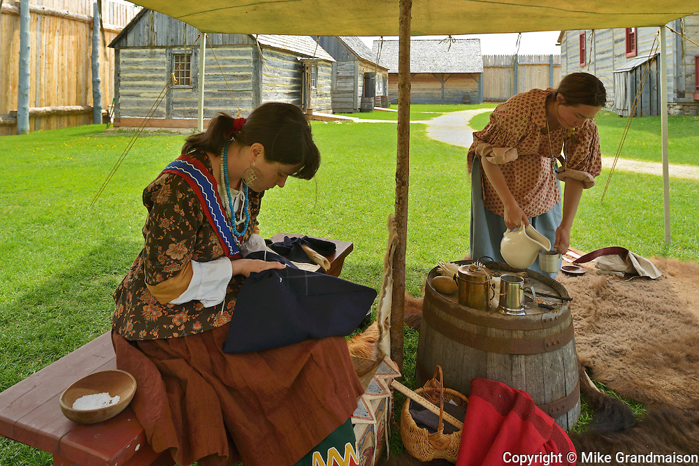 Inperiod costume at Fort Gibraltor. St. Boniface. <br /> Winnipeg<br /> Manitoba<br /> Canada