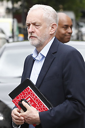 © Licensed to London News Pictures. 30/05/2017. London, UK. Labour Party Leader Jeremy Corbyn leaves BBC Broadcasting House after appearing on Radio Four's Woman's Hour programme. Photo credit: Peter Macdiarmid/LNP