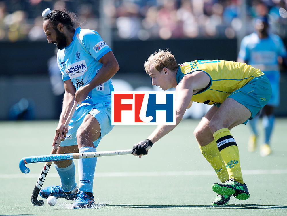 BREDA - Rabobank Hockey Champions Trophy<br /> Final Australia - India<br /> Photo: Sardar Singh and ZALEWSKI Aran.<br /> COPYRIGHT WORLDSPORTPICS FRANK UIJLENBROEK