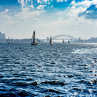 Distant view of Sydney from the water