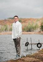 Kyle Gaudet senior portrait session at Pickerel Pond.  ©2014 Karen Bobotas Photographer
