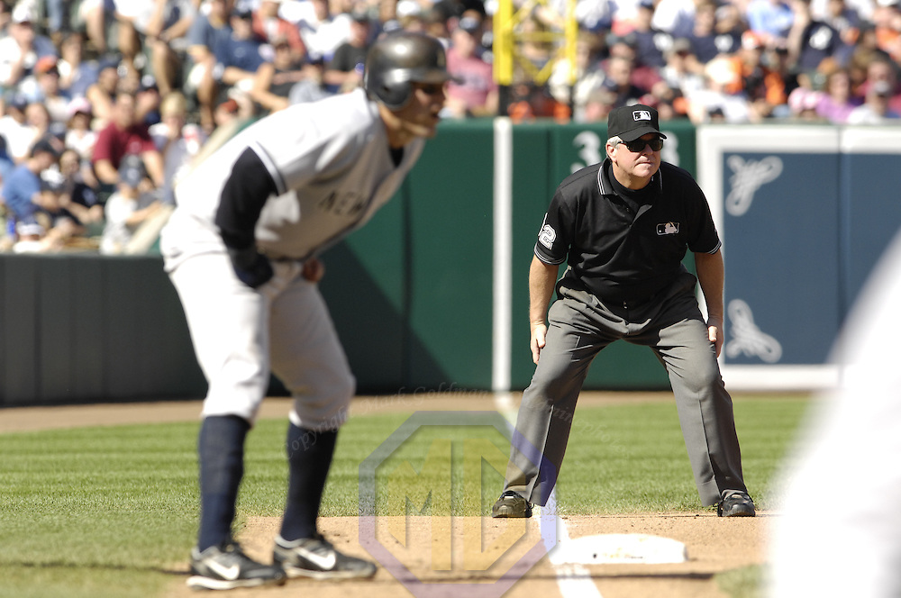 30 September 2007:  Third base umpire Dana DeMuth in action during the game between the New York Yankees and the Baltimore Orioles.  The Yankees defeated the Orioles 10-4 to end the regular season at Camden Yards in Baltimore, MD.  ****For Editorial Use Only****