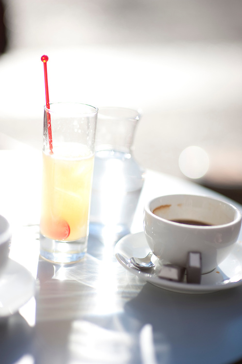 Citron presse and coffee, Nimes, South of France