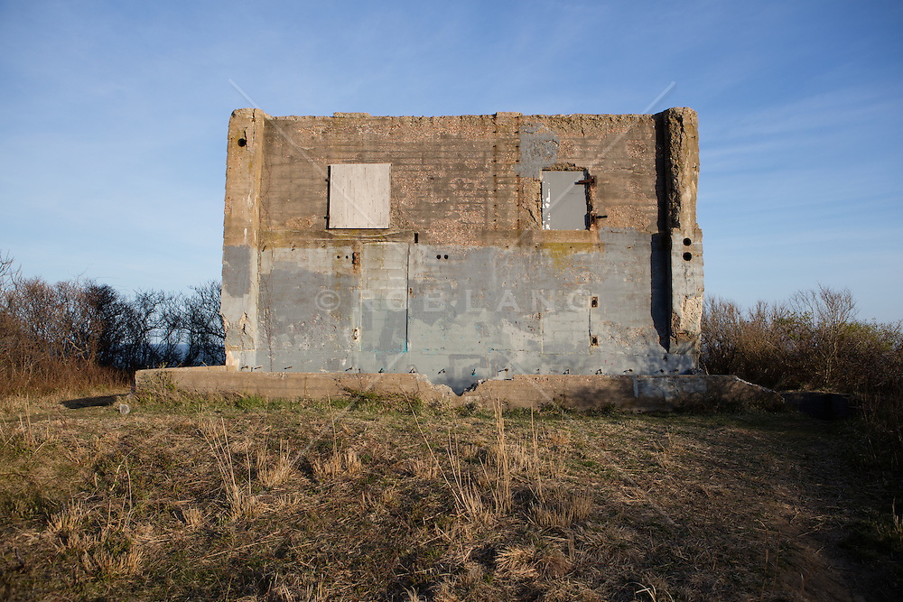 The remains of a bunker from World War 2 in Montauk, NY