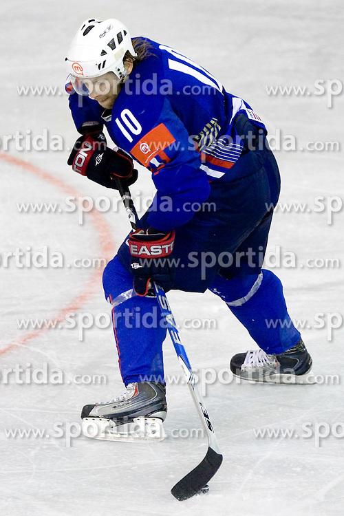 Mitja Sivic of Slovenia  at ice-hockey friendly match between National teams of Slovenia and Denmark, on April 14, 2010, in Tivoli hall, Ljubljana, Slovenia. Denmark defeated Slovenia 5-3. (Photo by Vid Ponikvar / Sportida)