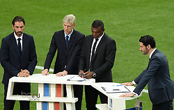 "Arsenal Manager appears on French Sport Tv ""Bein Sport"" along side Robert Pires and Marcel Desailly  - Mandatory by-line: Joe Meredith/JMP - 10/06/2016 - FOOTBALL - Stade de France - Paris, France - France v Romania - UEFA European Championship Group A"