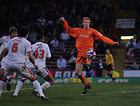 Photo: Tony Oudot/Richard Lane Photography. Crystal Palace v Reading. Coca-Cola Football League Championship. 21/03/2009. <br /> Dave Kitson of Reading is watched by the Palace defence